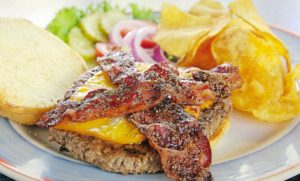 $6 Honey Pepper Bacon Burger (Mondays) @ Baxter's Interurban Grill | Tulsa | Oklahoma | United States
